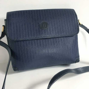Rare VTG Fendi blue-on-blue stripe bag